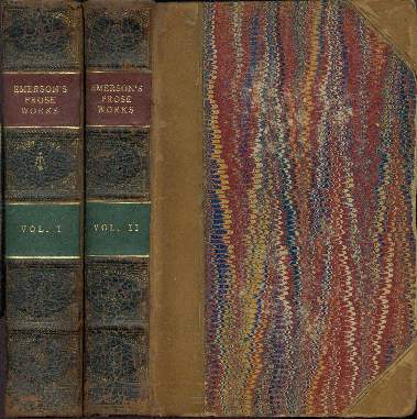 Image for THE PROSE WORKS OF RALPH WALDO EMERSON, VOLUMES 1 AND 2
